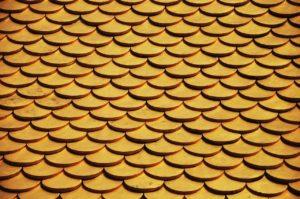Dachdeckung mit Biberschwanz