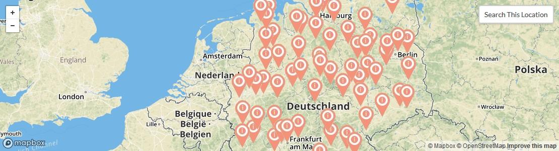 Standorte von Dachdeckereien in Deutschland