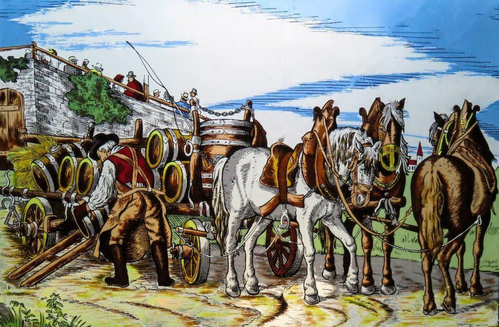 Pferdewagen der Postmoderne