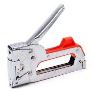 Handtacker mit rotem Griff