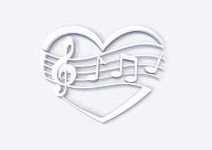 Herz, Noten & Notenschlüssel