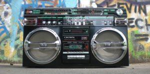 Boombox und Graffitti