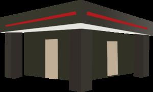 Bungalow mit Flachdach