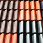 Farbige Dachziegel