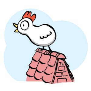 Cartoon: Vogel auf Dach