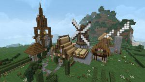 Dächer mit Gauben bei Minecraft